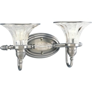 Progress Lighting Silvertone Roxbury Collection 2-light Classic Silver Bath Light