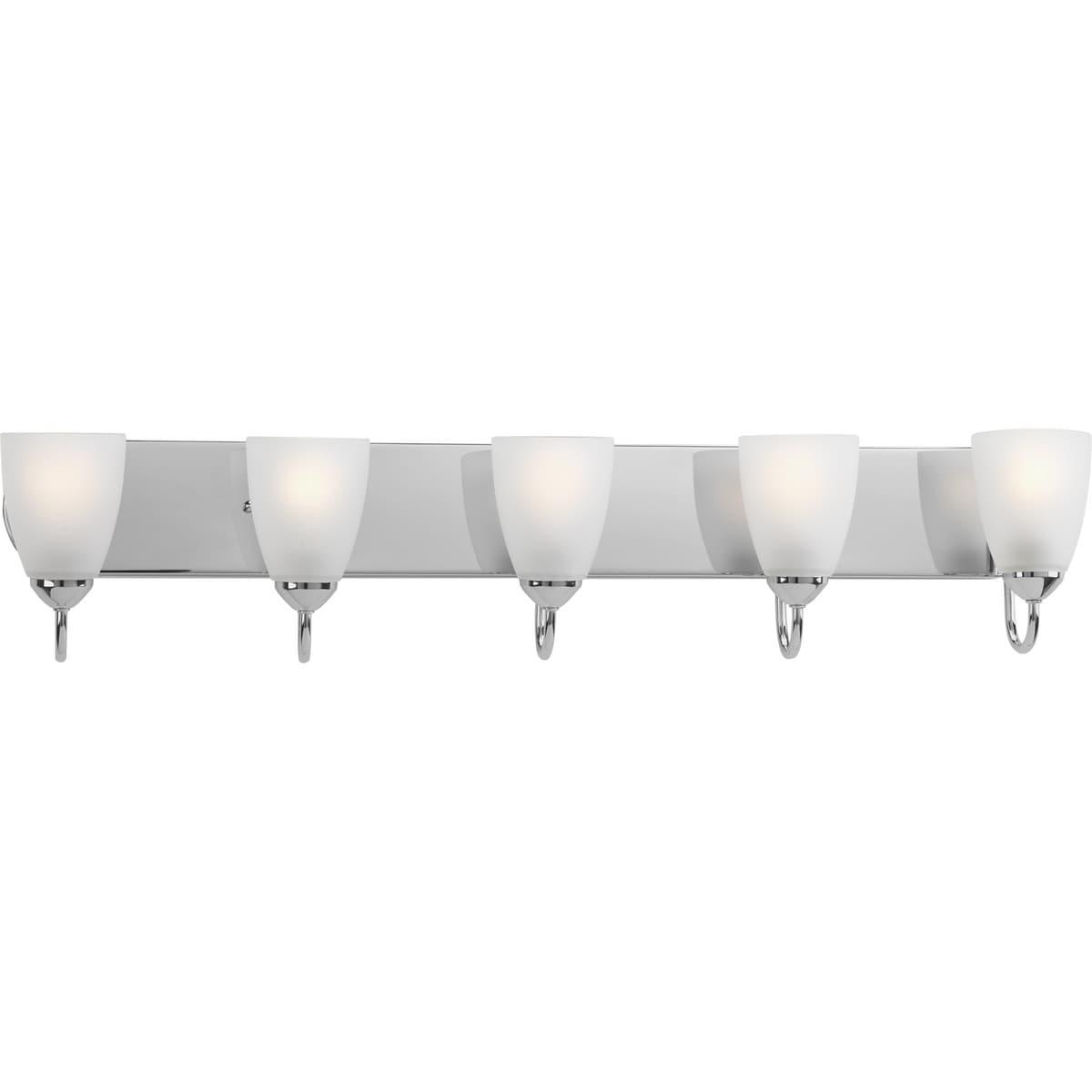 Shop Progress Lighting Silvertone Gather Collection 5 Light Polished Chrome Bath Light Overstock 9349264