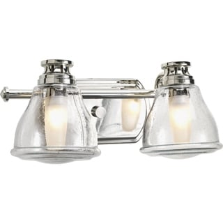 Progress Lighting Silvertone Academy Collection 2-light Polished Chrome Bath Light With Bulb