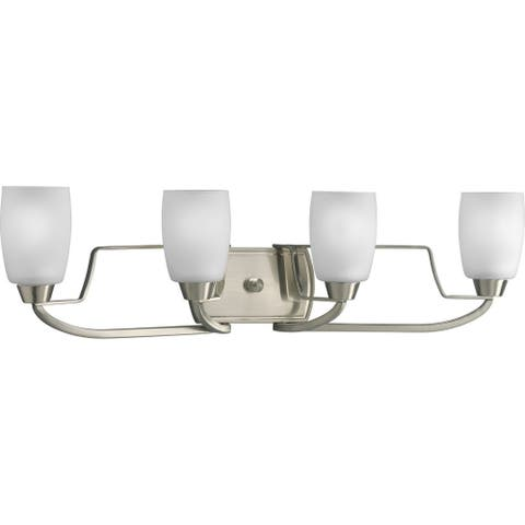 Progress Lighting Silvertone Wisten Collection 4-light Brushed Nickel Bath Light - N/A