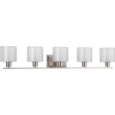 Progress Lighting Silvertone Invite Collection 5-light Brushed Nickel Bath Light