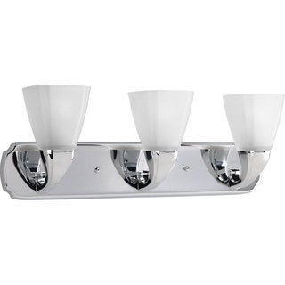 Progress Lighting Silvertone Addison Collection 3-light Chrome Bath Light