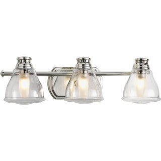 Progress Lighting Silvertone Academy Collection 3-light Polished Chrome Bath Light With Bulb