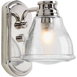 Progress Lighting Silvertone Academy Collection 1 Light Polished Chrome Bath