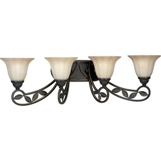 Progress Lighting Bronze Le Jardin Collection 4-light Espresso Bath Light