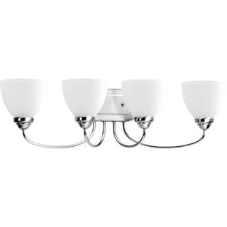 Progress Lighting Silvertone Heart Collection 4-light Polished Chrome Bath Light