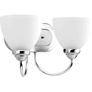 Progress Lighting Silvertone Heart Collection 2-light Polished Chrome Bath Light