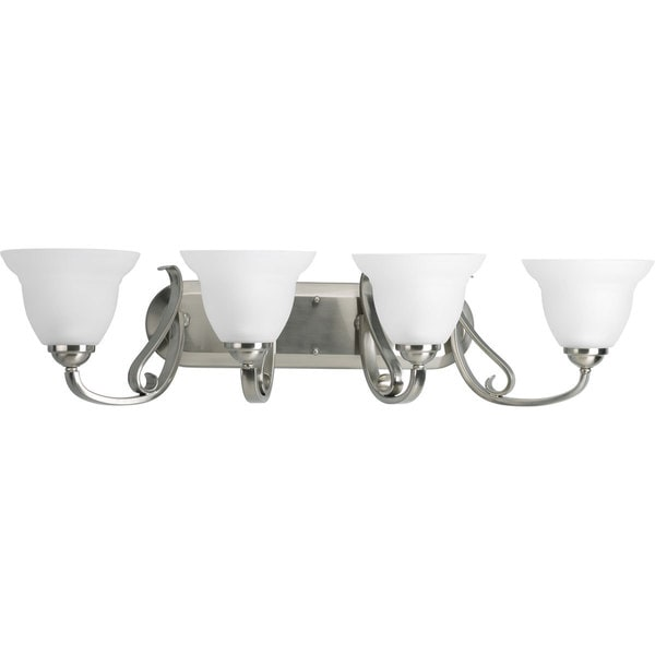 Progress Lighting Silvertone Torino Collection 4 Light Brushed Nickel Bath