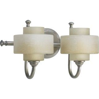Progress Lighting Silvertone  Ashbury Collection 2-light Silver Ridge Bath Light With Bulb