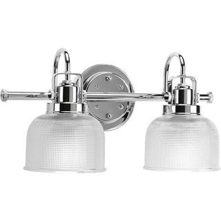 Progress Lighting Silvertone Archie Collection 2-light Chrome Bath Light