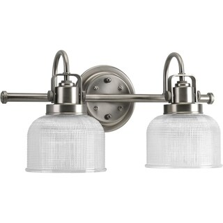 Progress Lighting Silvertone Archie Collection 2-light Antique Nickel Bath Light