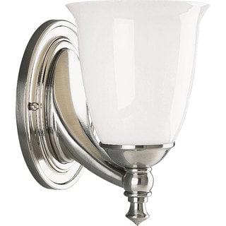 Progress Lighting Silvertone Victorian Collection 1-light Brushed Nickel Bath Light
