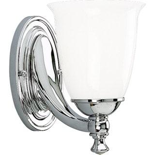 Progress Lighting Silvertone Victorian Collection 1-light Chrome Bath Light