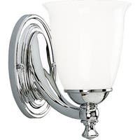 Progress Lighting Silvertone Victorian Collection 1-light Chrome Bath Light