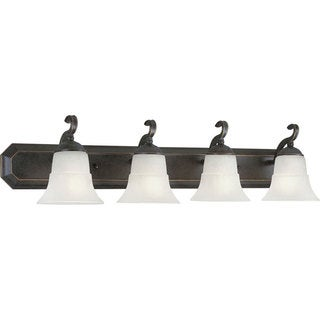 Progress Lighting Bronze Melbourne Collection 4-light Espresso Bath Light
