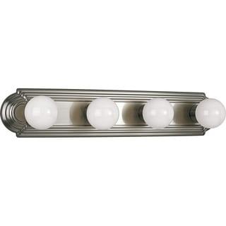 Progress Lighting Silvertone  4-light Brushed Nickel Bath Light- Wall Mount Only