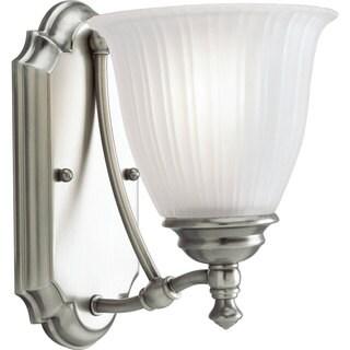 Progress Lighting Silvertone Renovations Collection 1 Light Antique Nickel  Bath Light