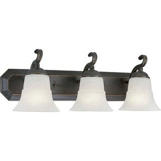 Progress Lighting Bronze Melbourne Collection 3-light Espresso Bath Light