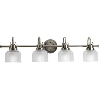 Progress Lighting Silvertone Archie Collection 4-light Antique Nickel Bath Light