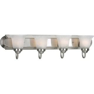 Progress Lighting Silvertone 4-light Brushed Nickel Bath Light