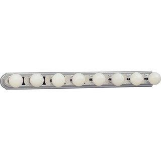Progress Lighting Silvertone 8-light Chrome Bath Light- Wall Mount Only