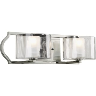 Progress Lighting Silvertone Caress Collection 2-light Polished Nickel Bath Light With Bulb