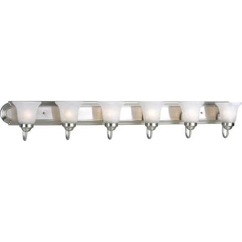 Progress Lighting Silvertone 6-light Brushed Nickel Bath Light - N/A