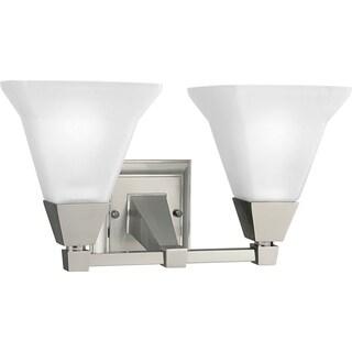 Progress Lighting Silvertone 2-light Brushed Nickel Bath Fixture