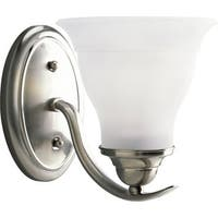 Progress Lighting Silvertone  Trinity 1-light Fluorescent Bath Light With Bulb