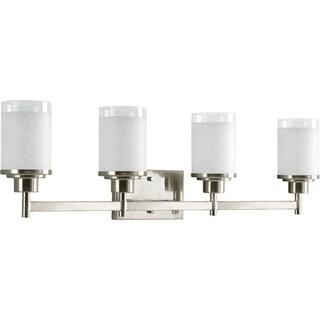 Progress Lighting Silvertone Alexa Collection 4-light Brushed Nickel Bath Light