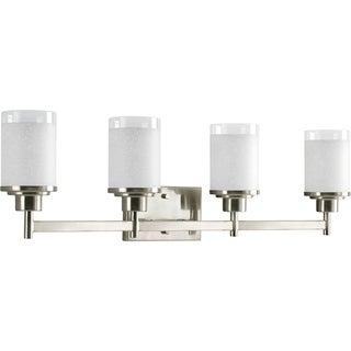 Progress Lighting Silvertone Alexa Collection 4-light Brushed Nickel Bath Light