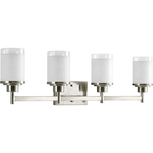 Progress Lighting Silvertone Alexa Collection 4 Light Brushed Nickel Bath  Light