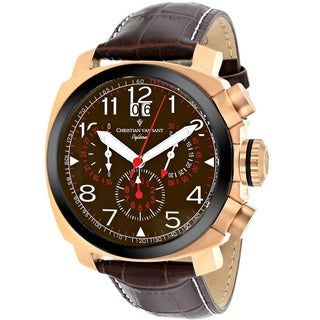 Christian Van Sant Men's Brown Grand Python Chronograph Watch