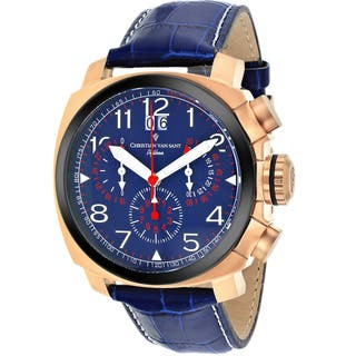 Christian Van Sant Men's Blue Grand Python Chronograph Watch|https://ak1.ostkcdn.com/images/products/9349895/P16542962.jpg?impolicy=medium