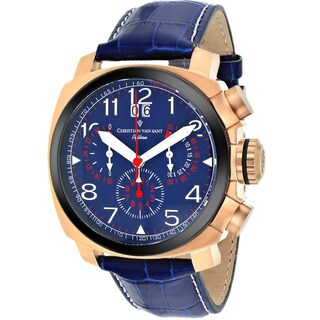 Christian Van Sant Men's Blue Grand Python Chronograph Watch