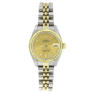 Pre-owned Rolex Women's 69173 Datejust Two-tone Automatic Watch
