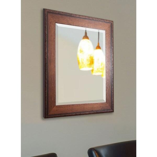 American Made Rayne Timber Estate Vanity Wall Mirror - Walnut