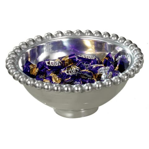 Aluminum 6-inch Imperial Beaded Round Bowl