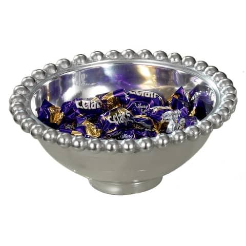 Aluminum 6-inch Imperial Beaded Round Bowl