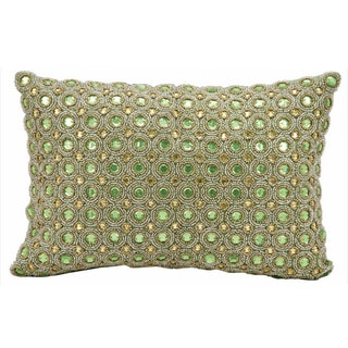 kathy ireland Marble Beads Green Throw Pillow (10-inch x 14-inch) by Nourison