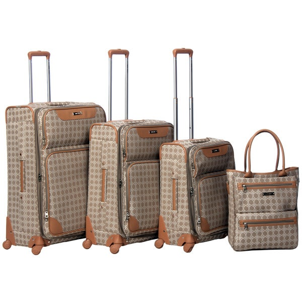 4cb8cdc46 Shop Nine West Addison 4-piece Fashion Luggage Set - Free Shipping ...