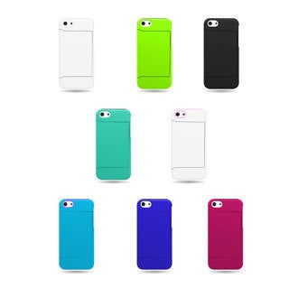 Hybrid Dual Layer Case with Credit Card Holder for Apple iPhone 5C