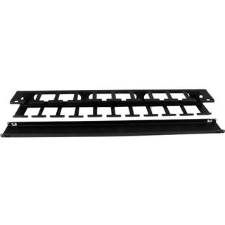 StarTech.com 1U Horizontal Finger Duct Rack Cable Management Panel wi