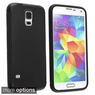 INSTEN Rugged with Screen Protector Hard Plastic Phone Case Cover for Samsung Galaxy S5