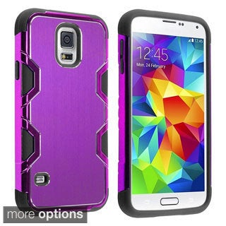 INSTEN Rugged PC Soft Silicone Aluminum Hybrid Phone Case Cover for Samsung Galaxy S5