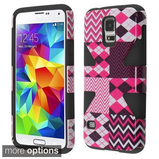 INSTEN Pattern Design Shock Proof PC Soft Silicone Hybrid Phone Case Cover for Samsung Galaxy S5