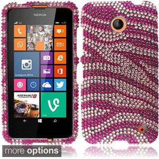 INSTEN Diamond Design Bling Shinny Hard Plastic Phone Case Cover for Nokia Lumia 635