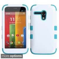 INSTEN Colorful Shock Proof PC Soft Silicone Hybrid Phone Case Cover for Motorola Moto G