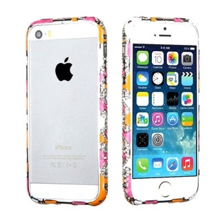INSTEN Diamante Metal Surround Shield Bumper for Apple iPhone 5/ 5S/ SE