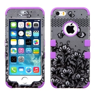 INSTEN Pattern Design Shock Proof PC Soft Silicone Hybrid Phone Case Cover for Apple iPhone 5/ 5S/ SE